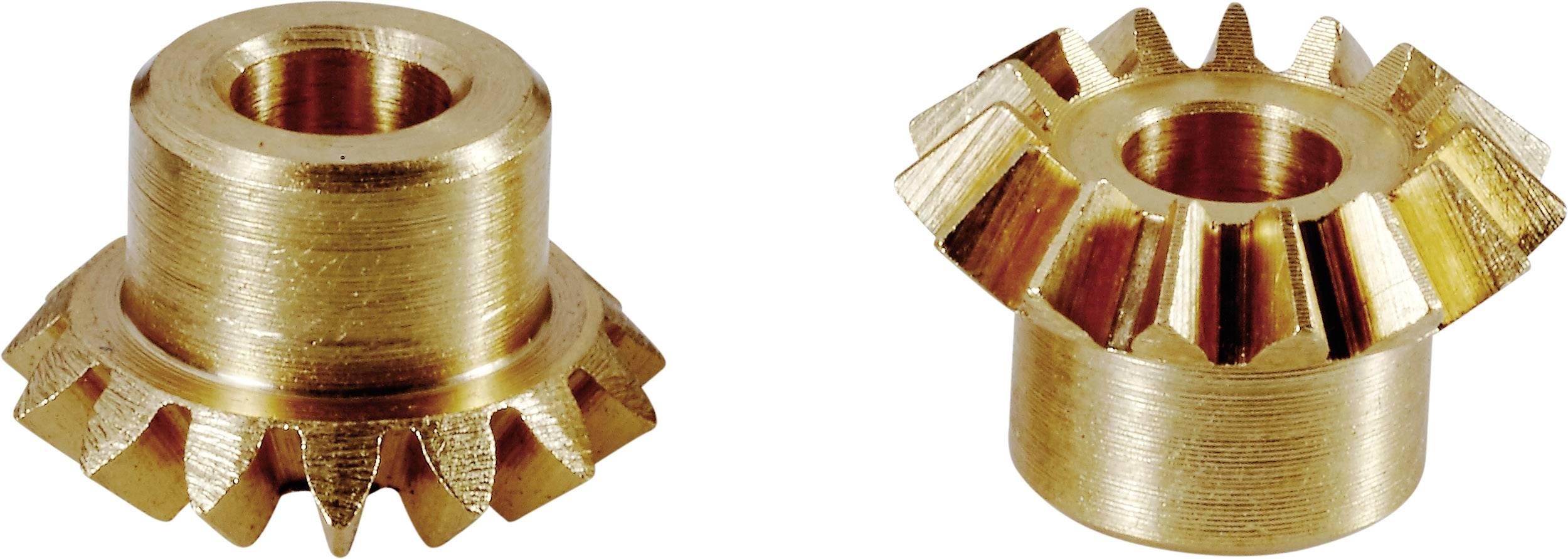 Mosazné ozubené kolo kuželové Modelcraft, M0.75, 15 zubů, 2 ks
