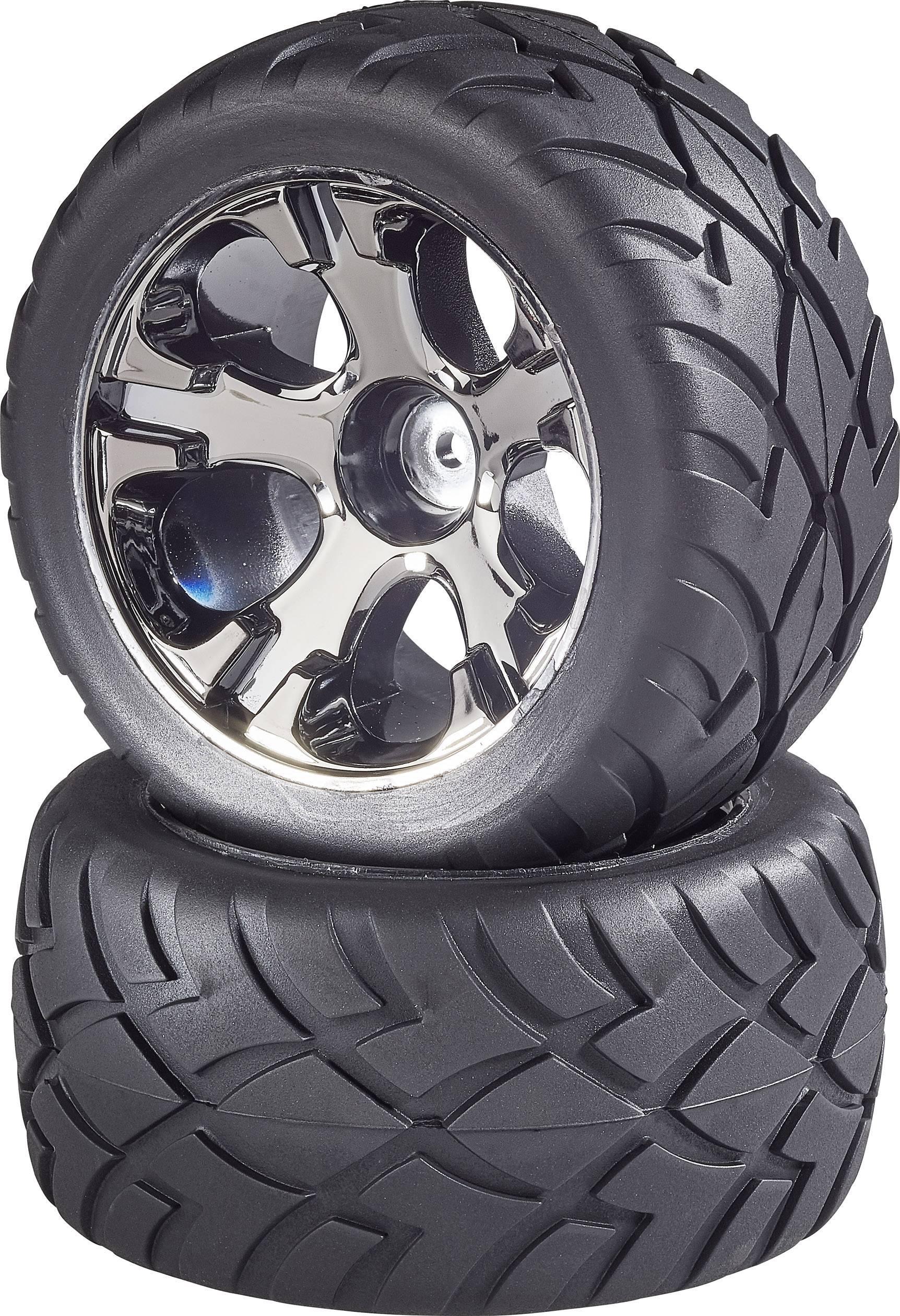 Kompletné kolesá Street Reely 533028C pre truggy, 100 mm, 1:10, 2 ks, titánová