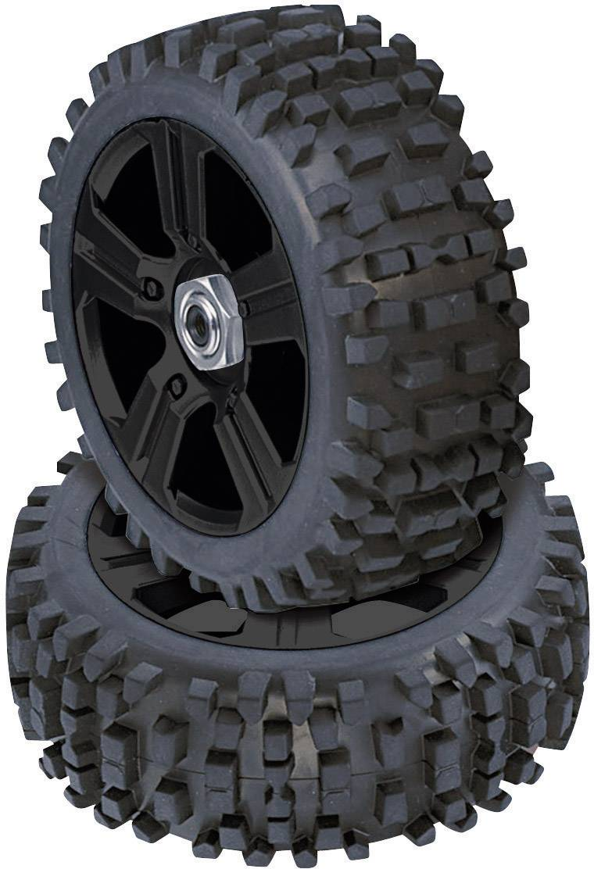 Kompletné kolesá drážky Reely 102c131E pre buggy, 114 mm, 1:8, 4 ks, čierna