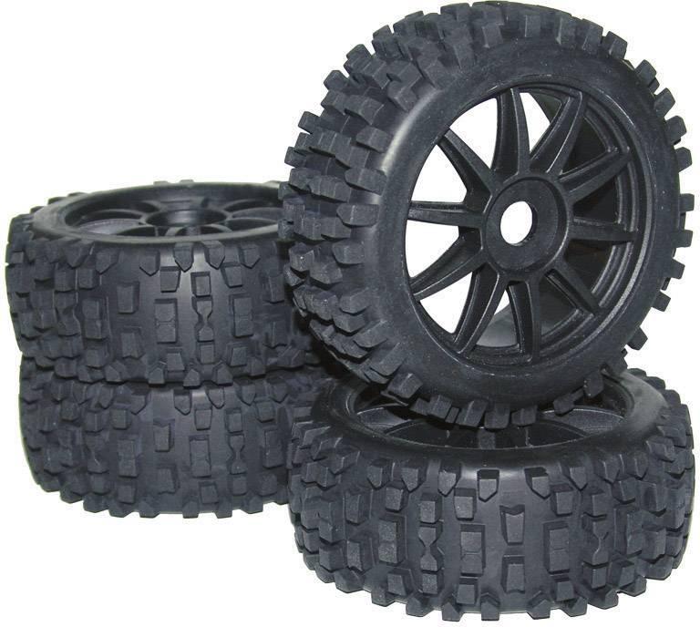 Kompletné kolesá Big Core Reely MV3693SBA3 pre buggy, 114 mm, 1:8, 4 ks, čierna
