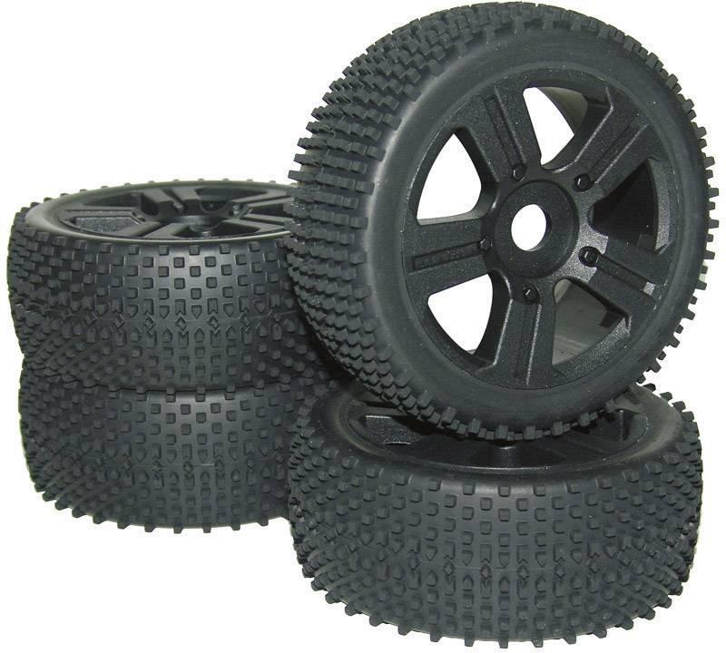 Kompletné kolesá Spike Reely D08B03NRSBA1 pre buggy, 113 mm, 1:8, 4 ks, čierna