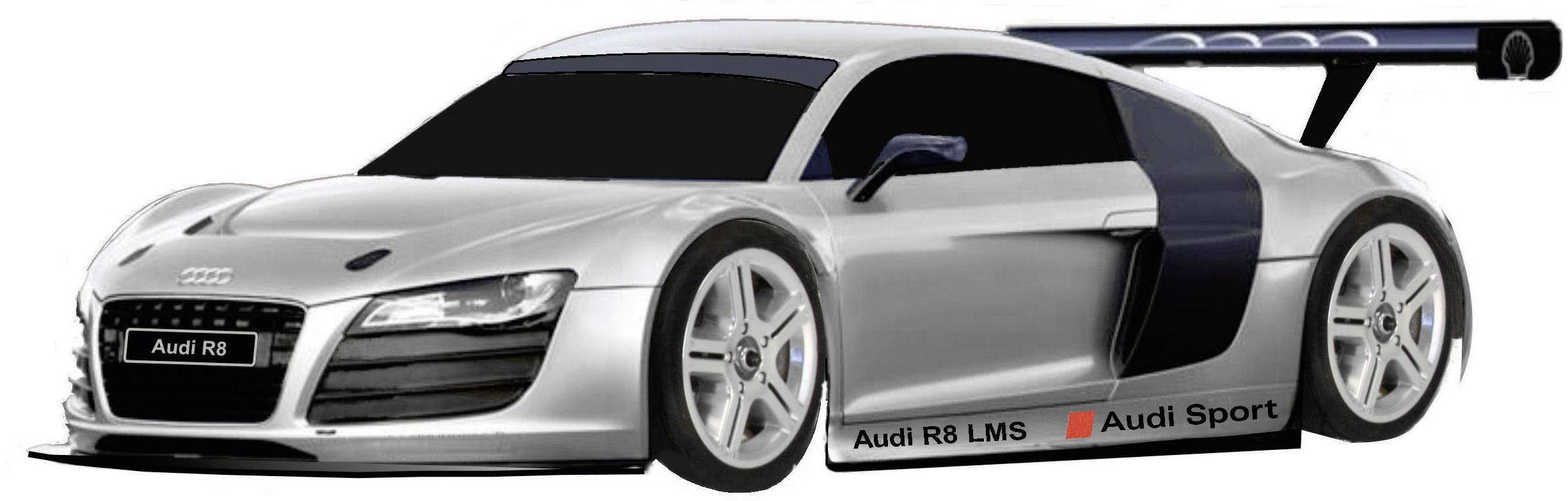 Karoséria Reely Audi R8 LMS 237993 1:10, lakovaná a polepená