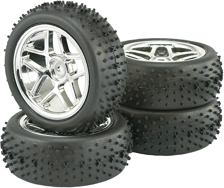 Kompletné kolesá Spike Reely 532075C pre buggy, 87 mm, 1:10, 4 ks, titánová