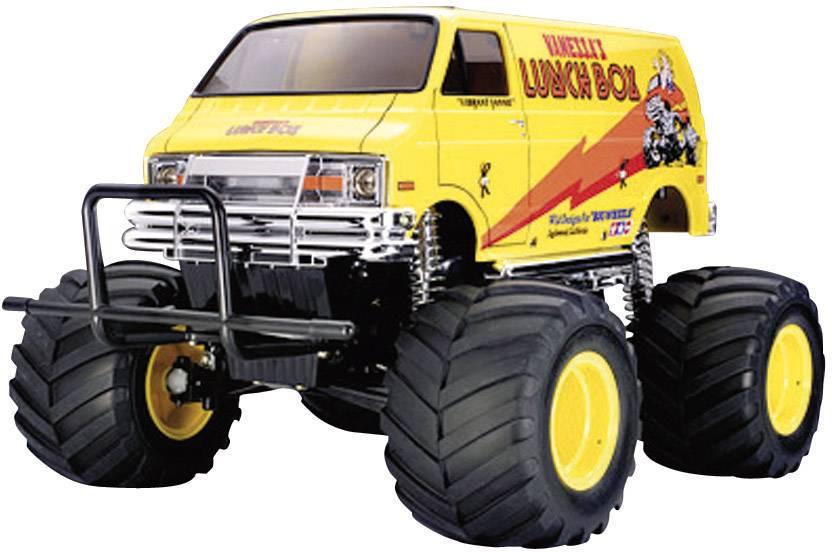 RC model auta monster truck Tamiya Lunch Box, komutátorový, 1:12, zadní 2WD (4x2), stavebnice, 30 km/h