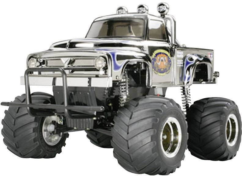 RC model auta monster truck Tamiya Midnight Pumpkin Metallic Special, komutátorový, 1:12, zadní 2WD (4x2), stavebnice