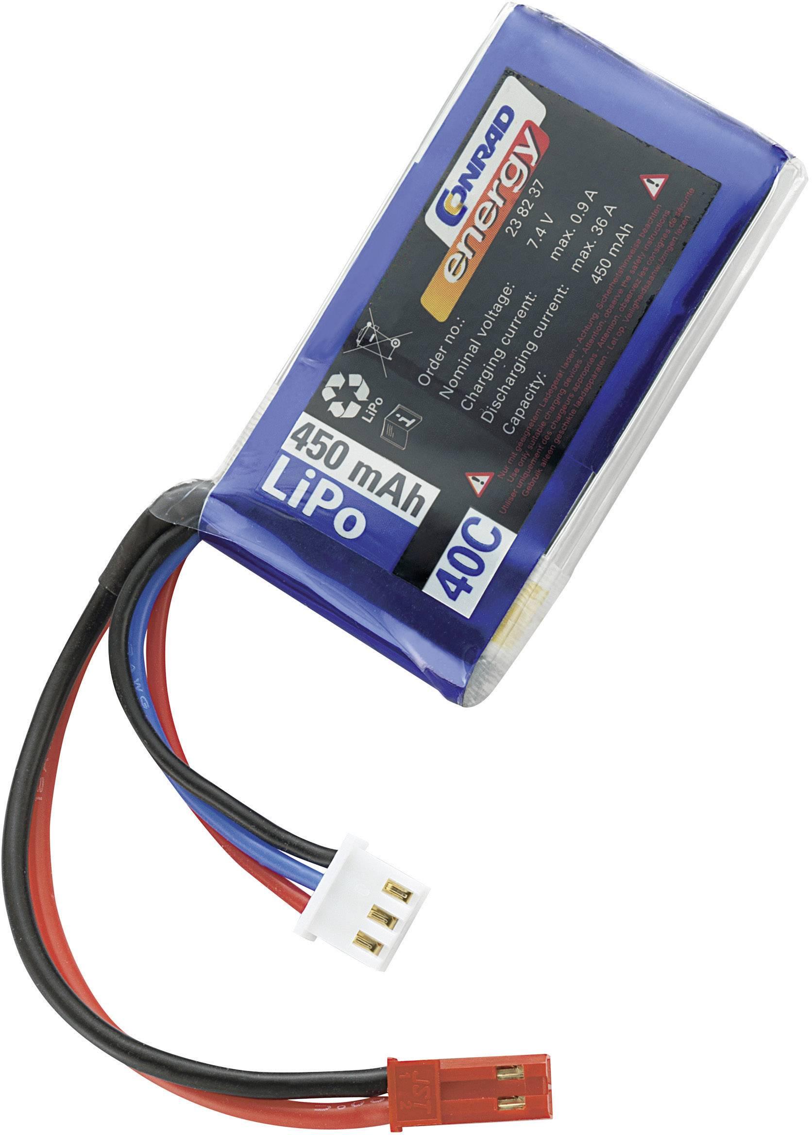 Akupack Li-Pol Conrad energy 238237, 7.4 V, 450 mAh