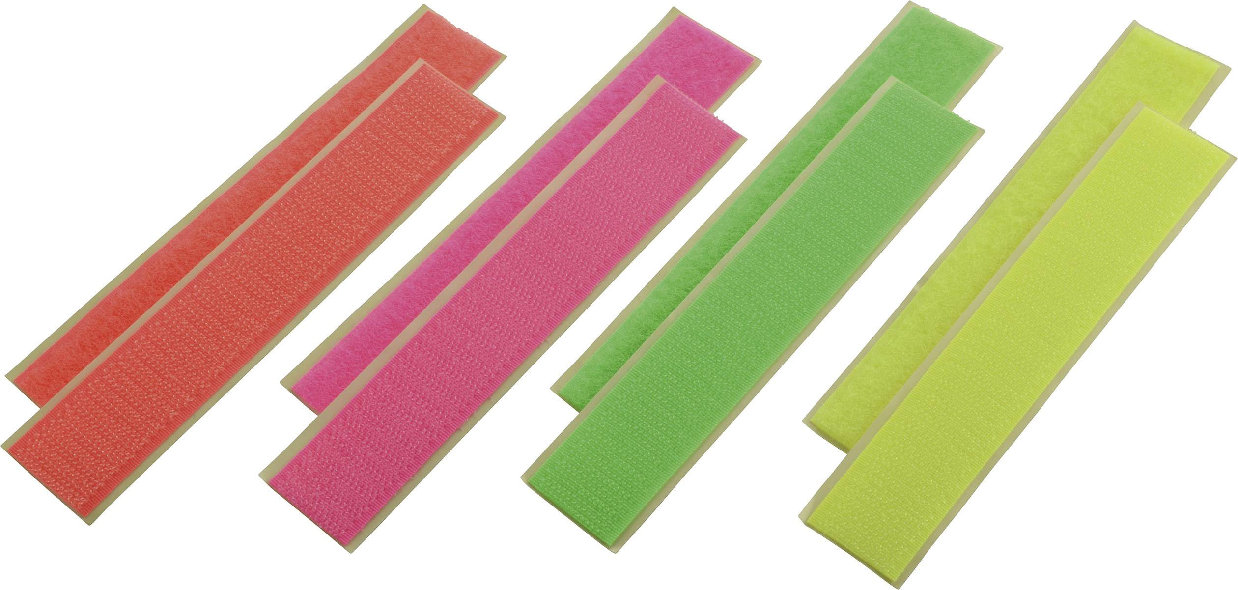Suchý zip Reely, neonové barvy, 4 ks