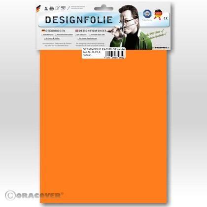Airbrush samolepící fólie Oracover, fluorescenční oranžová