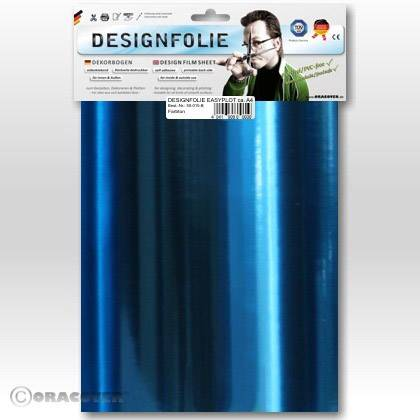 Airbrush samolepící fólie Oracover, chrom/modrá