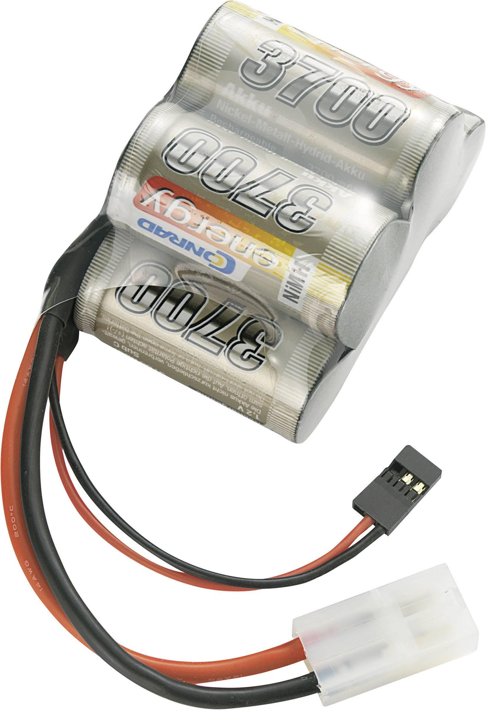 Akupack přijímače NiMH Conrad Energy Sub-C, 6 V, 3700 mAh, Hump, JR / Tamiya