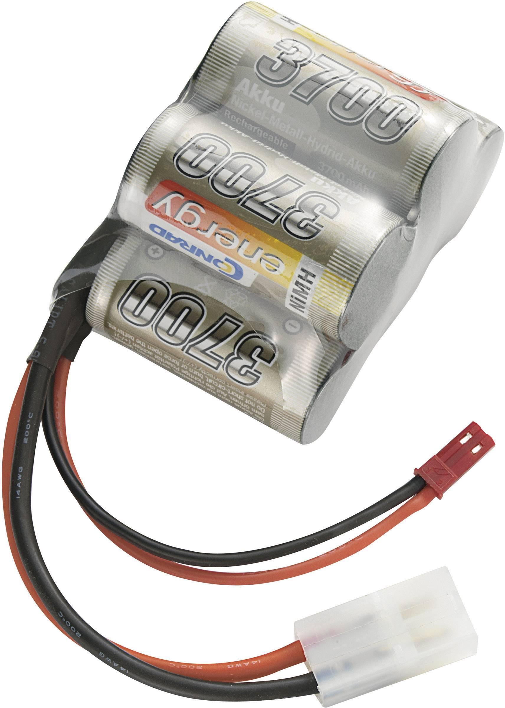 Akupack přijímače NiMH Conrad Energy Sub-C, 6 V, 3700 mAh, Hump, Tamiya / BEC