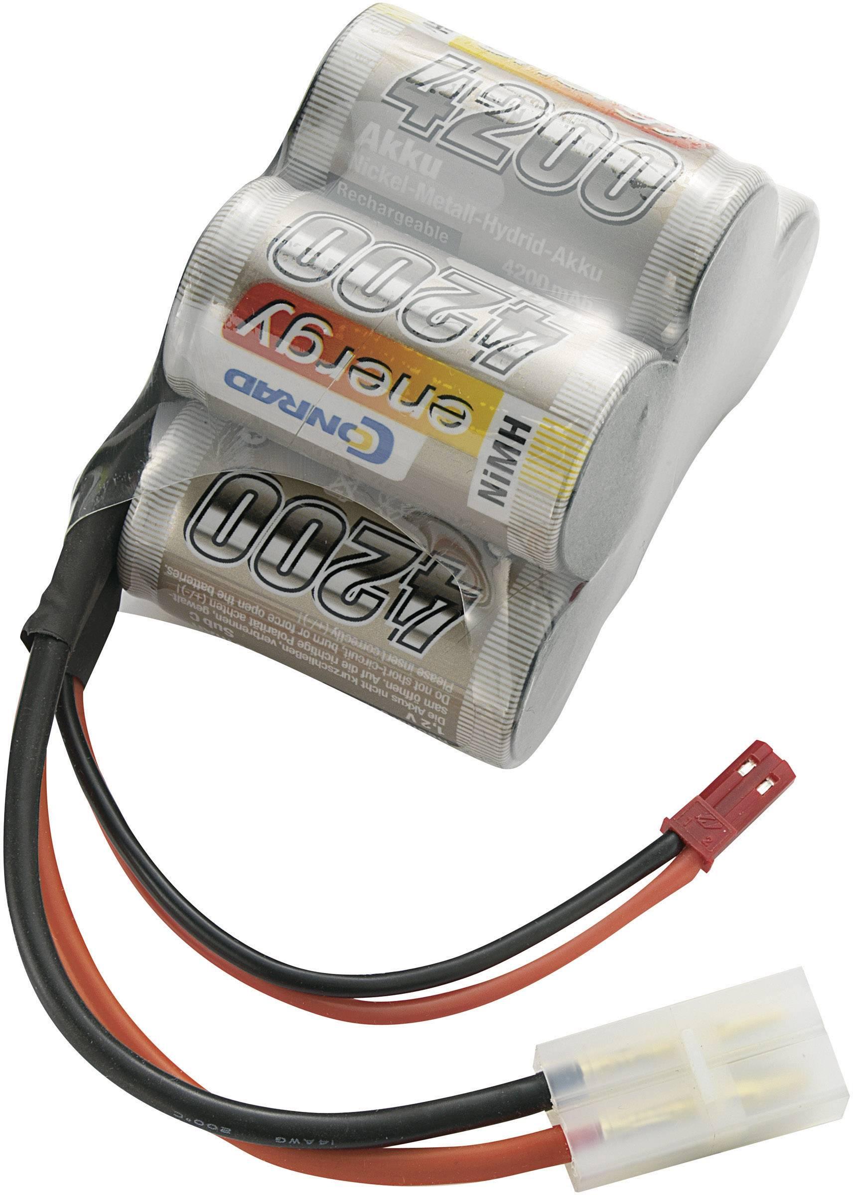 Akupack přijímače NiMH Conrad Energy Sub-C, 6 V, 4200 mAh, Hump, BEC / Tamiya