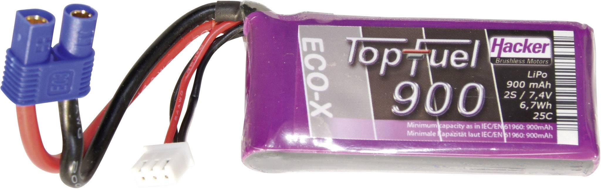 Akupack Li-Pol Hacker 20900241, 7.4 V, 900 mAh