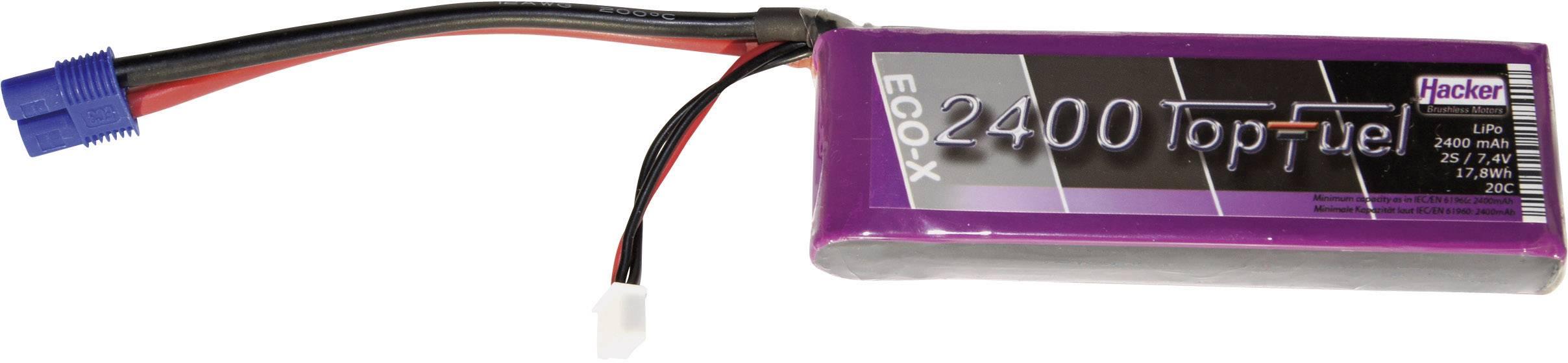 Akupack Li-Pol Hacker 22400231, 7.4 V, 2400 mAh