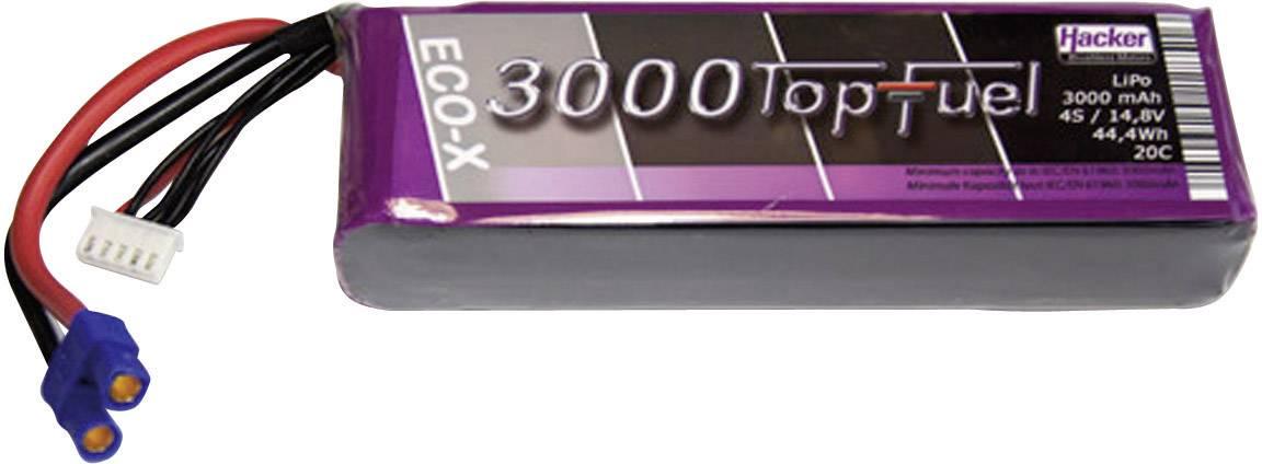 Akupack Li-Pol Hacker 23000431, 14.8 V, 3000 mAh