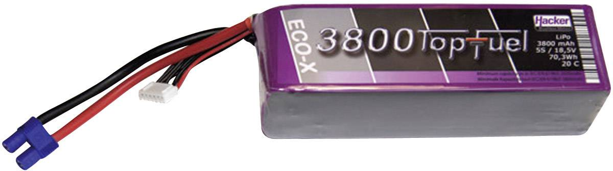 Akupack Li-Pol Hacker 23800531, 18.5 V, 3800 mAh