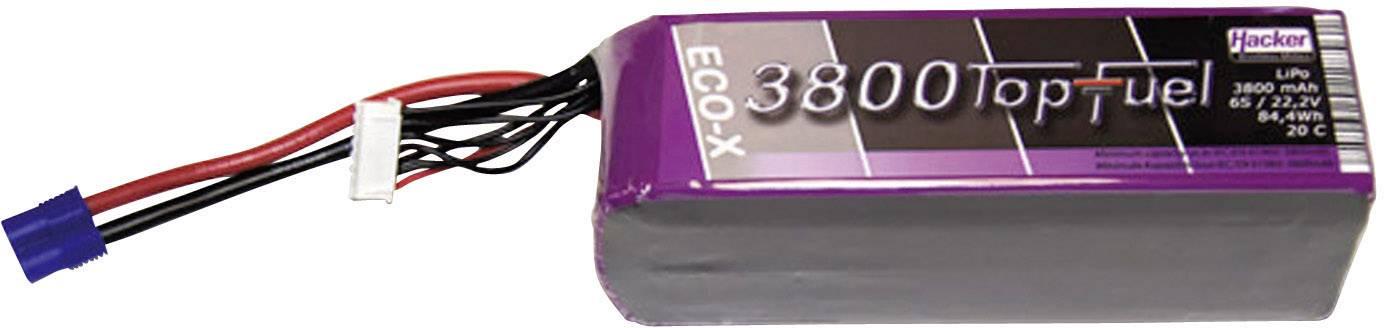 Akupack Li-Pol Hacker 23800631, 22.2 V, 3800 mAh