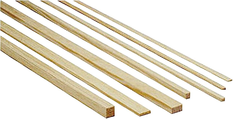 Lišta z borovicového dreva, 1000 x 2 x 2 mm, 10 ks