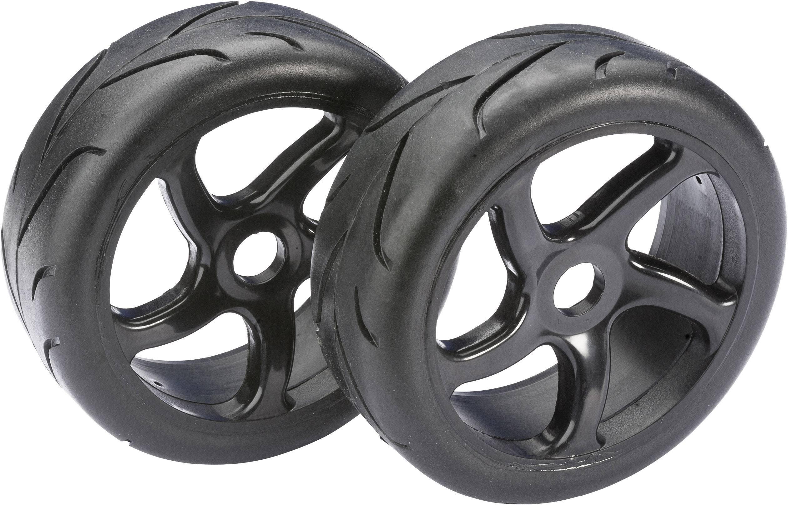 Kompletné kolesá Street Absima 2530001 pre buggy, 110 mm, 1:8, 2 ks, čierna