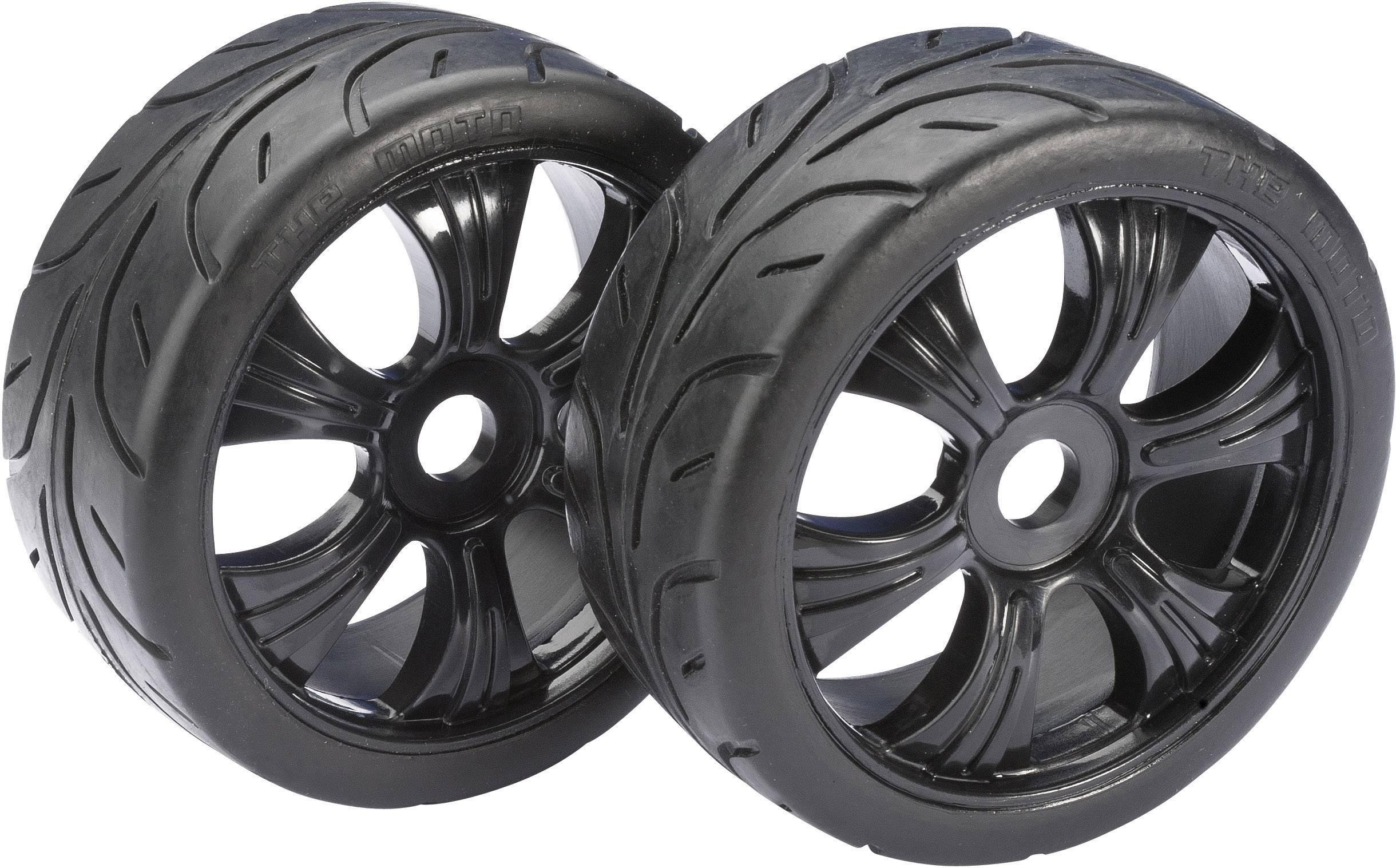 Kompletné kolesá Street Absima 2530003 pre buggy, 104 mm, 1:8, 2 ks, čierna