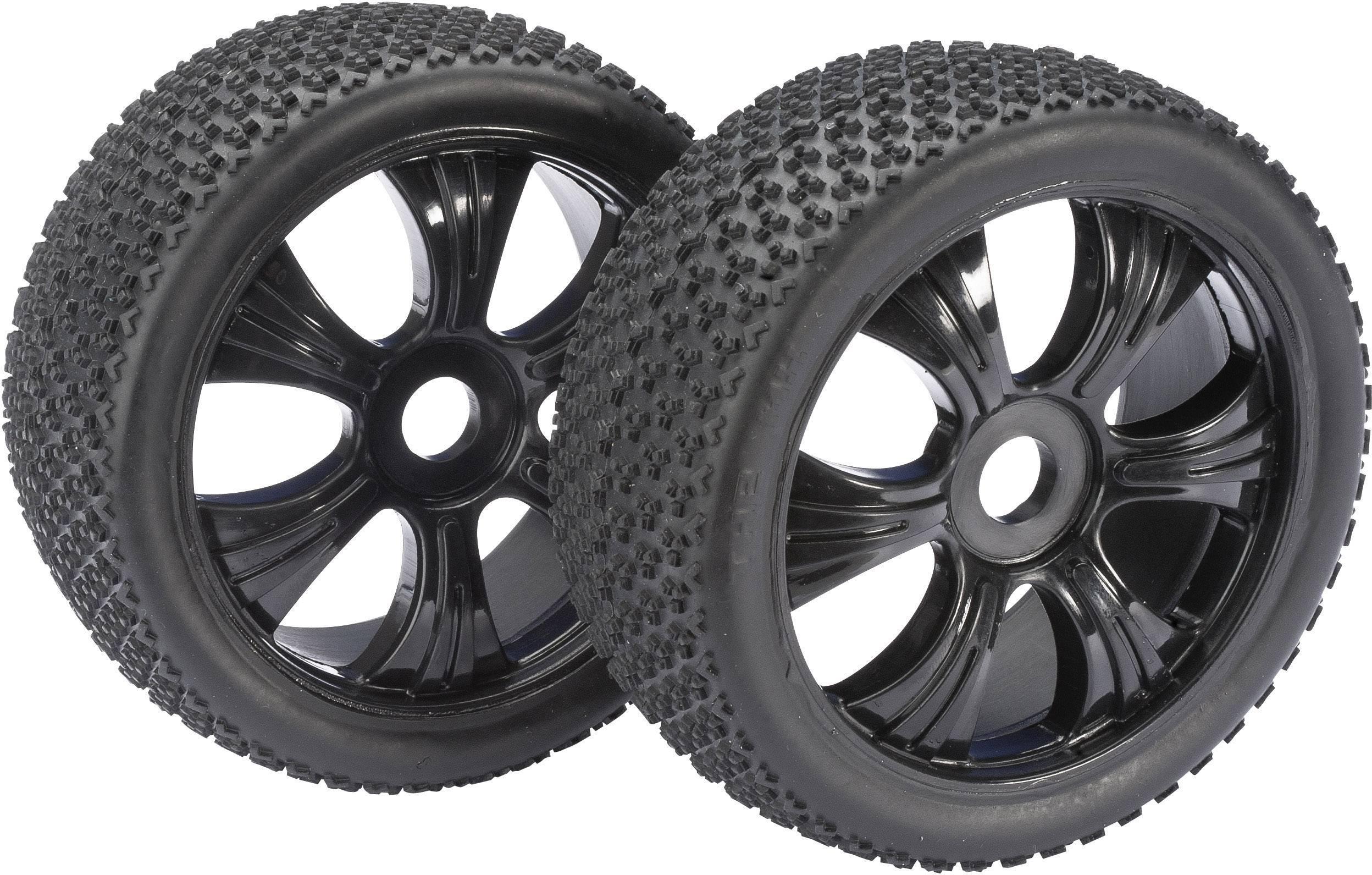 Kompletné kolesá 3-Pin Absima 2520011 pre buggy, 116 mm, 1:8, 2 ks, čierna