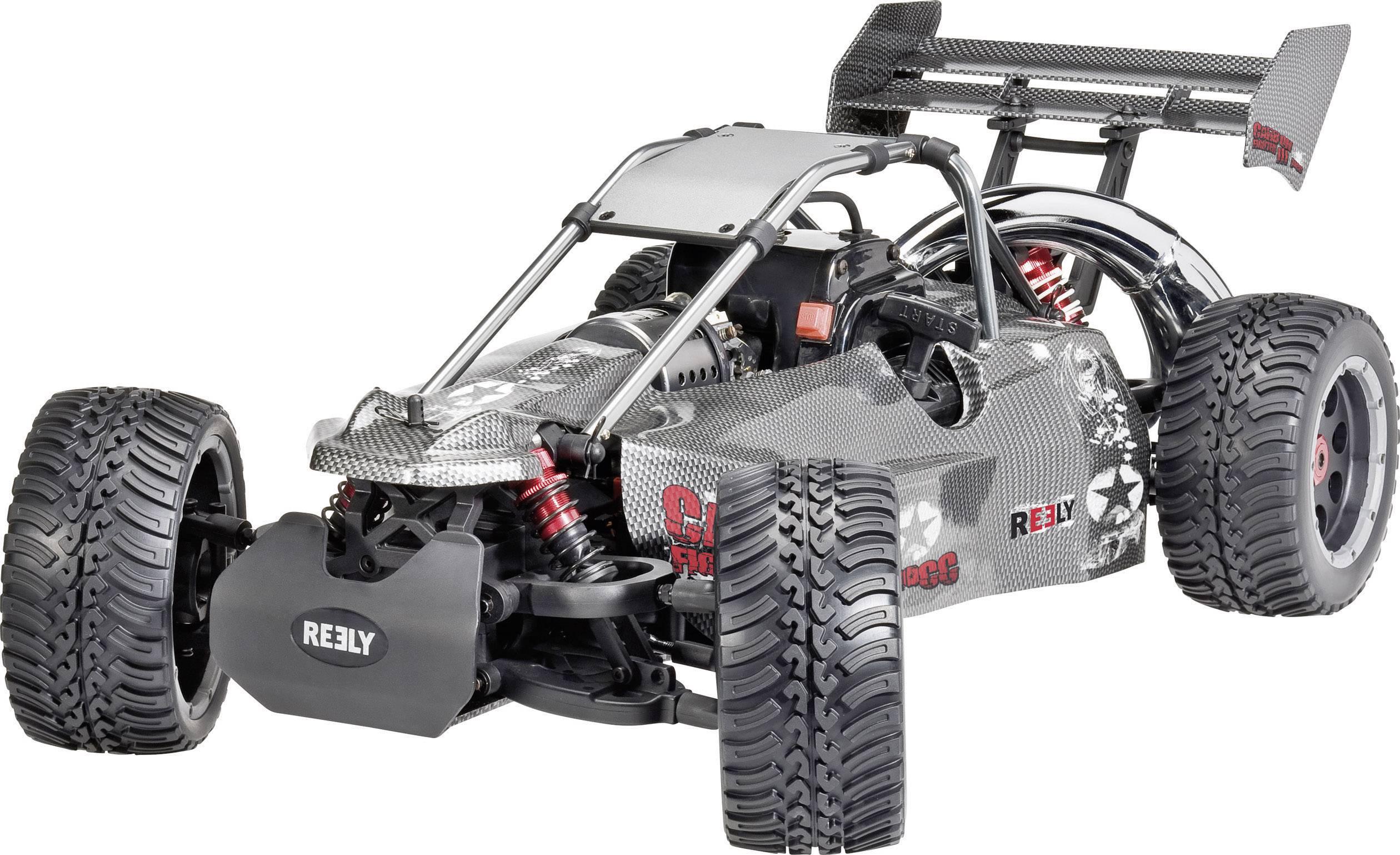 RC model auta buggy Reely Carbon Fighter III, 1:6, benzínový motor, zadný 2WD (4x2), RtR, 80 km/h