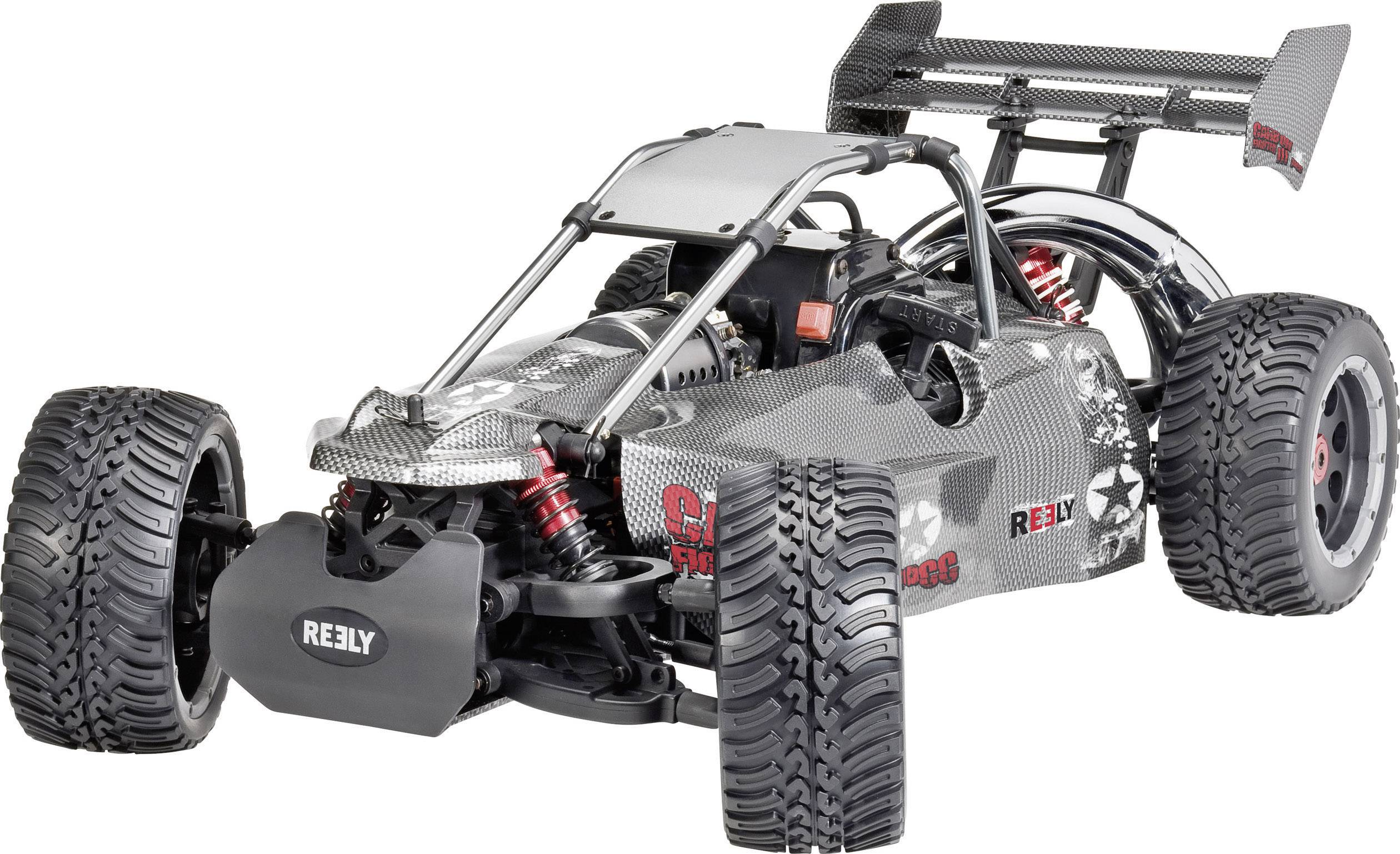 RC model benzínový Buggy Reely Carbon Fighter III, 1:6, 2WD,RtR 2.4 GHz