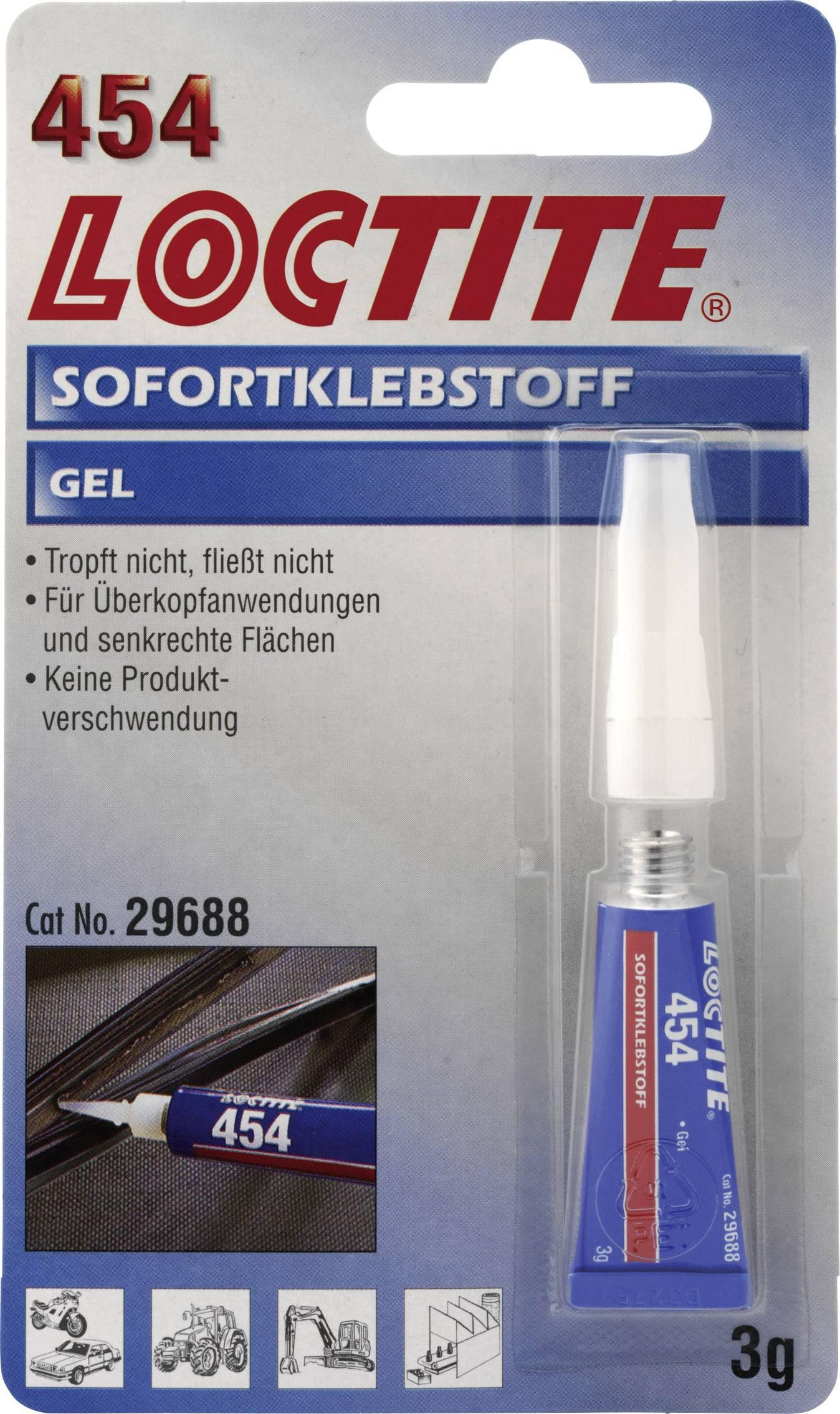 Vteřinové lepidlo GEL 3 G LOCTITE 454