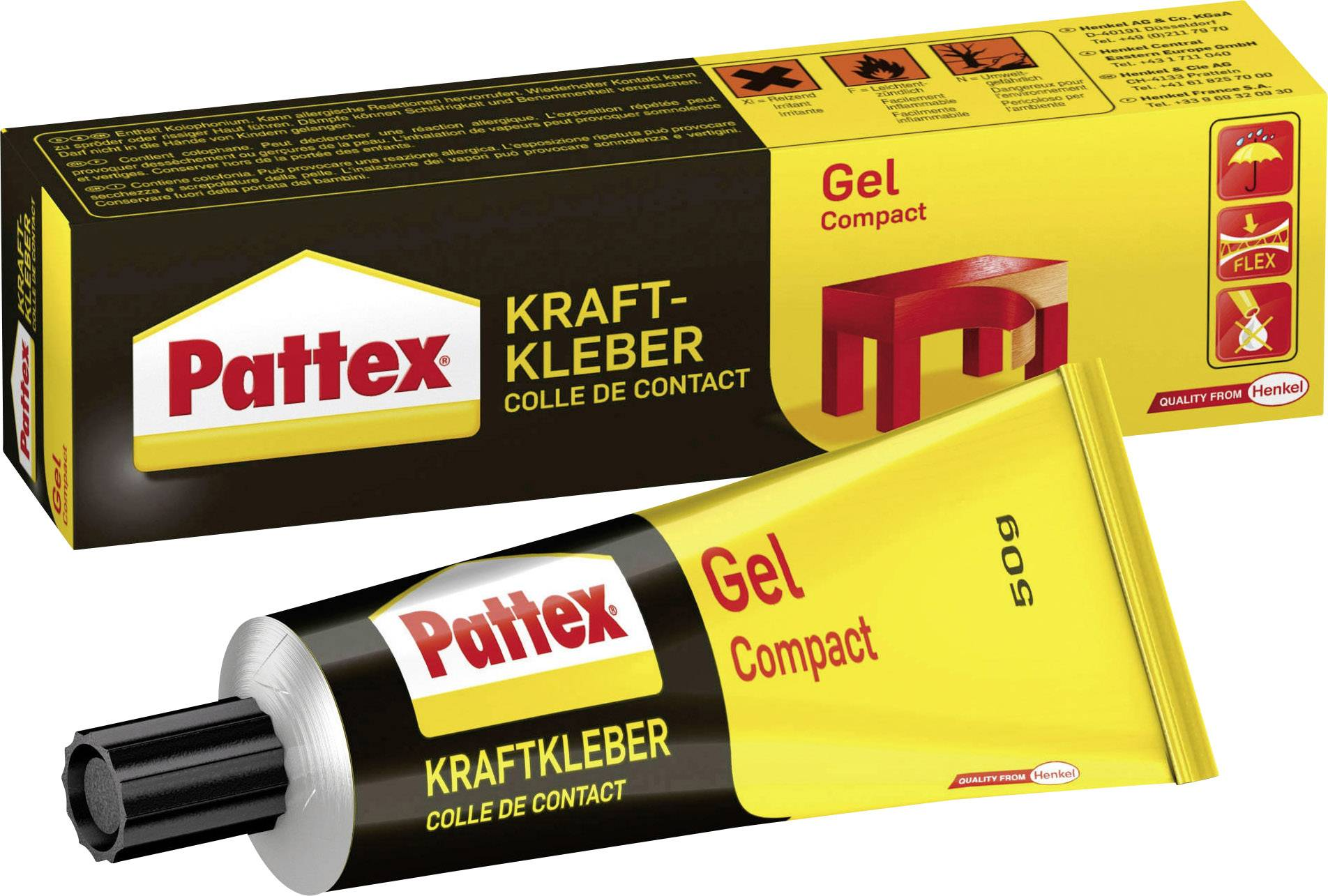 Kontaktné lepidlo Pattex Compact Gel;PT50N, 50 g