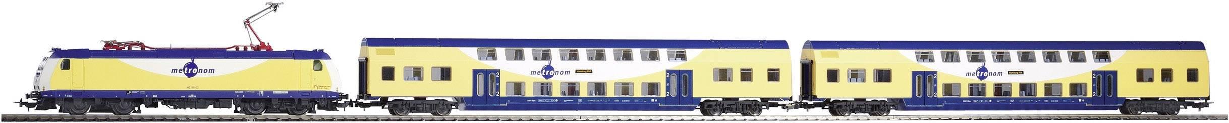 Startovací sada H0 osobního vlaku Metronom a elektrické lokomotivy řady 146 Piko