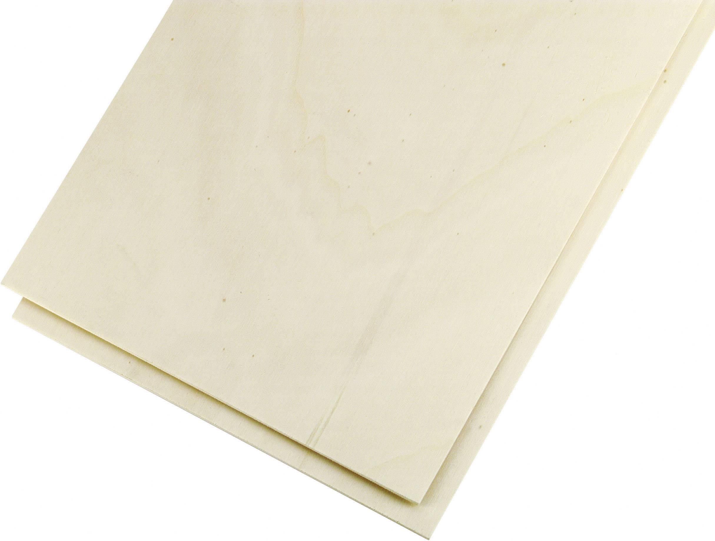 Překližka z topolového dřeva 500 x 250 x 10 mm, 2 ks