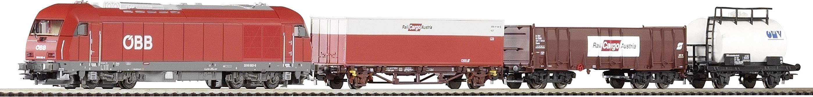 Štartovacia sada H0 nákladného vlaku Metronom a dieslovej lokomotívy Piko H0 96948