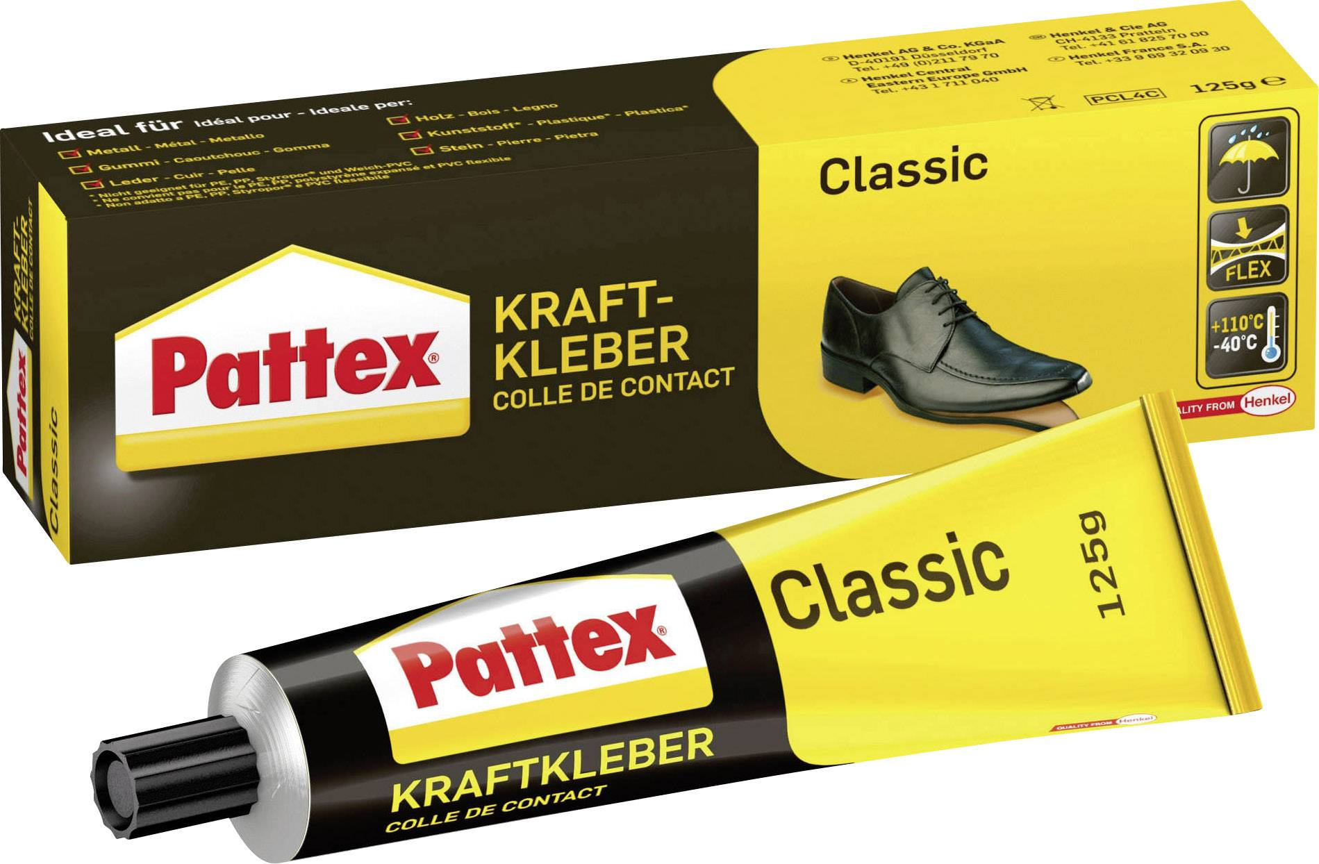 Kontaktné lepidlo Pattex Classic;PCL4C, 125 g