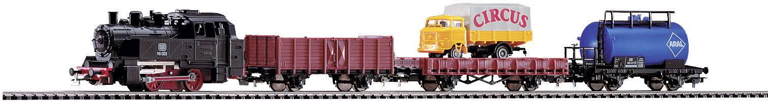 Startovací sada H0 Piko 57111, parní nákladní vlak, ovál 1100 x 880 mm