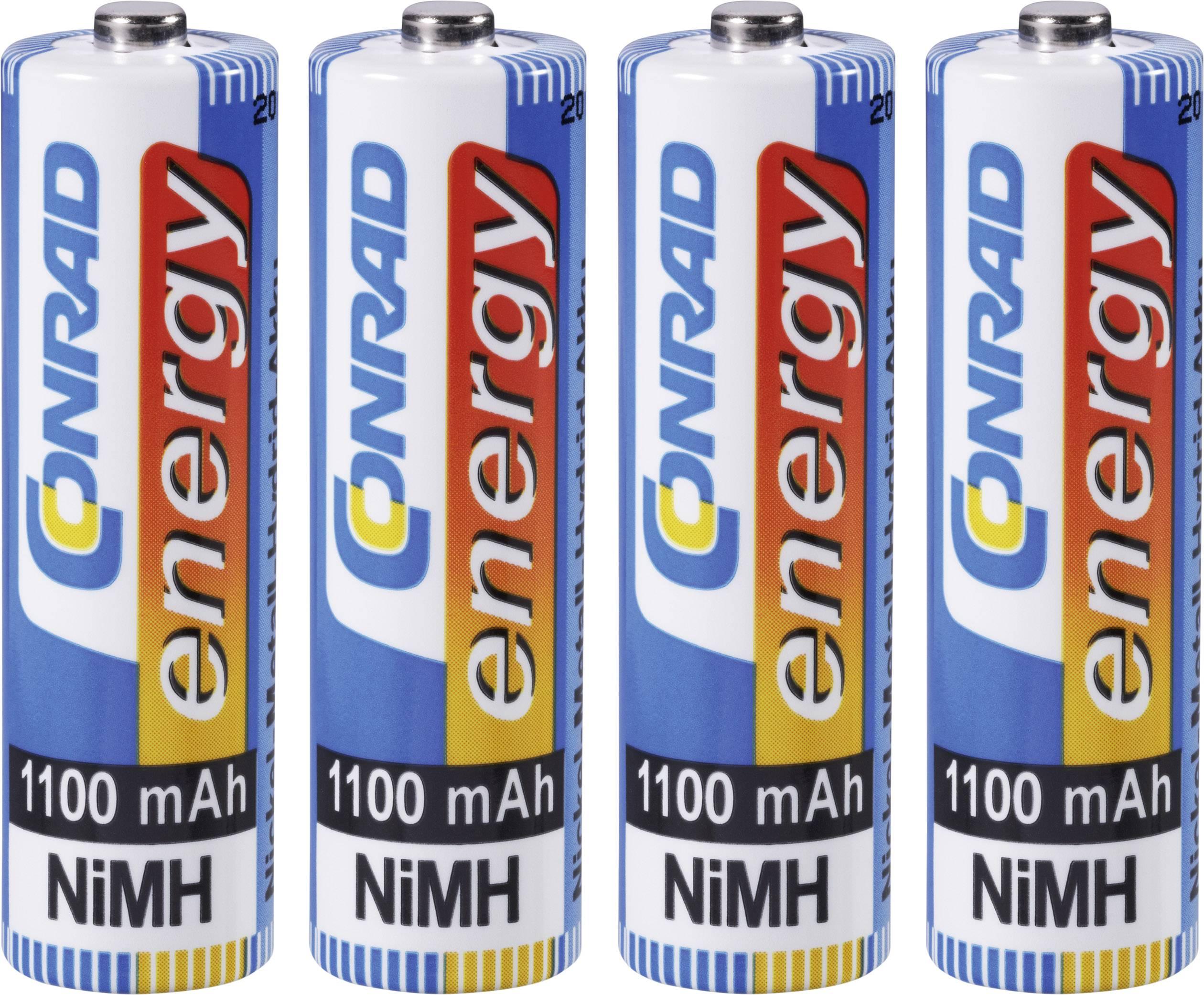Sada 4 kusov NiMH mignon akumulátorov Conrad Energy