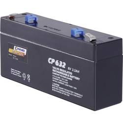 Olověný akumulátor, 6 V/3,2 Ah , Conrad energy