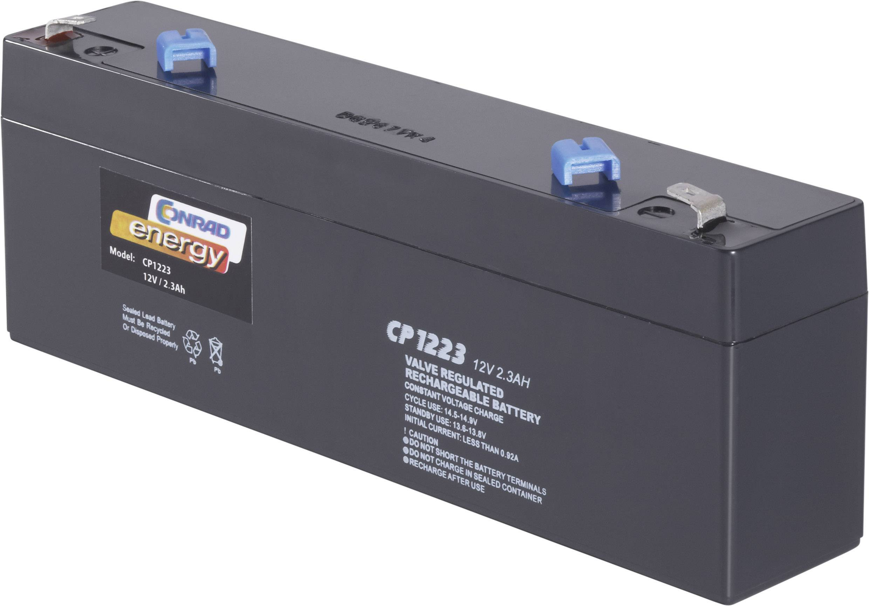 Olověný akumulátor, 12 V/2,3 Ah, Conrad energy