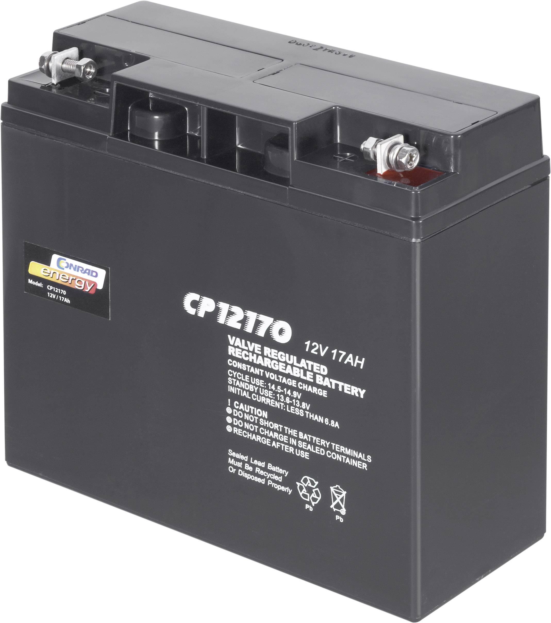 Olovený akumulátor Conrad energy CP12170 250214, 17 Ah, 12 V