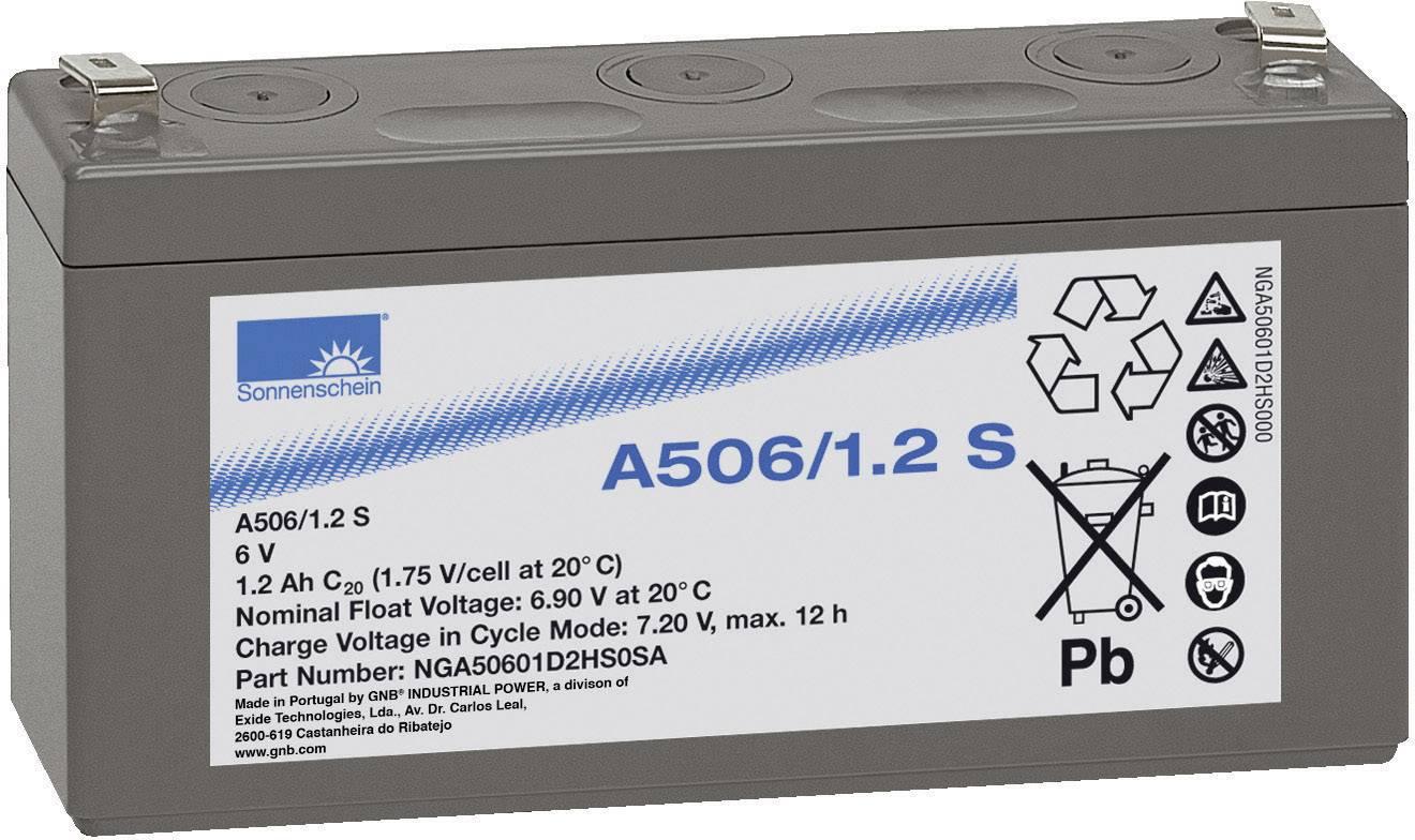 Gelový akumulátor, 6 V/1,2 Ah, Exide Sonnenschein NGA50601D2HS0SA
