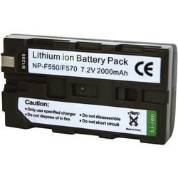 Li-Ion akumulátor pro videokameru SONY NP-F530/550, 7,2 V, 2000 mAh, černá
