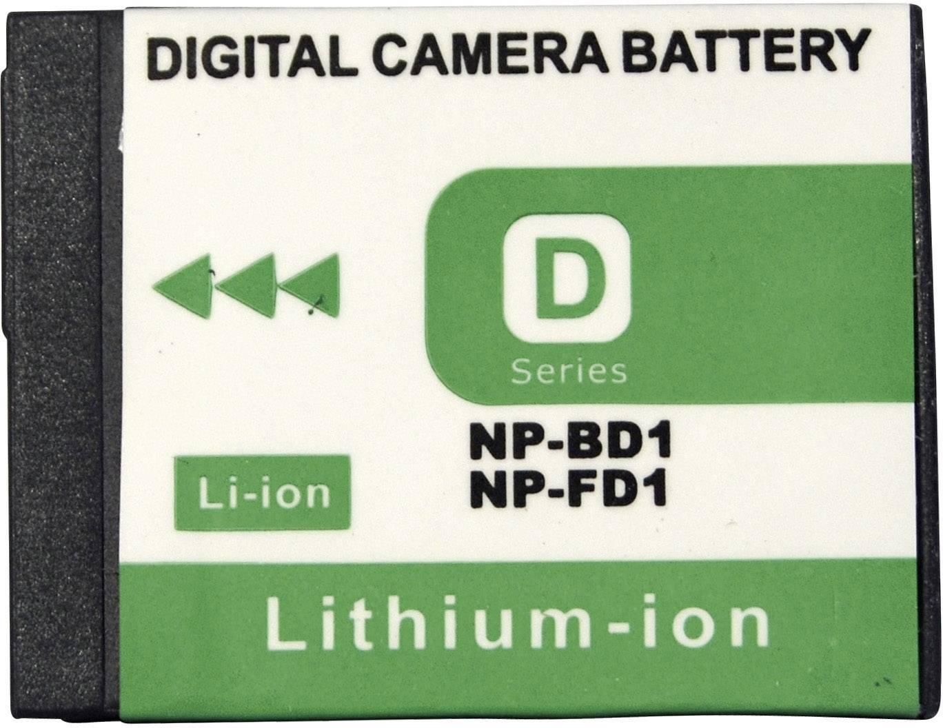 Akumulátor do kamery Conrad energy 250487 250487, 650 mAh