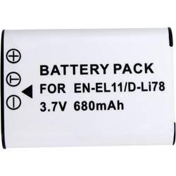 Náhradní baterie pro kamery EN-EL11, 3,7 V, 450 mAh