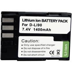 Náhradní baterie pro kamery Conrad Energy D-Li90, 7,4 V, 1300 mAh