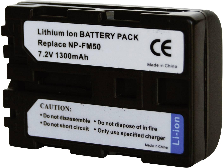 Akumulátor do kamery Conrad energy 250525 250525, 1300 mAh
