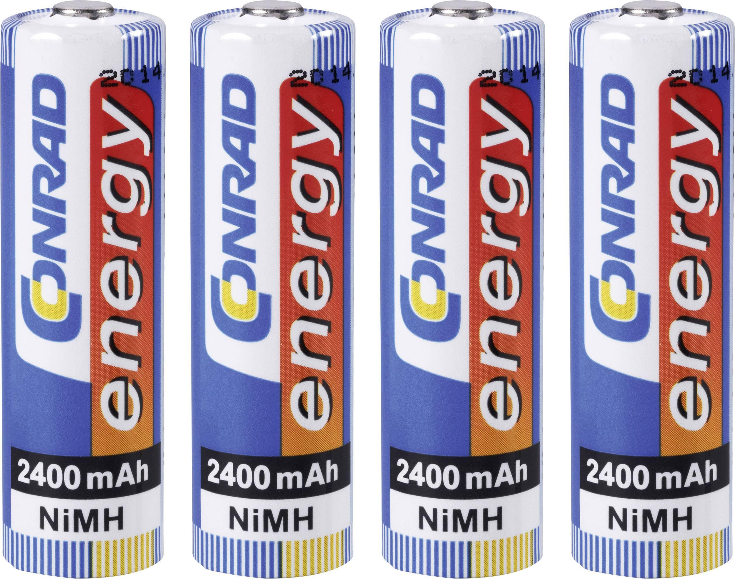 Akumulátor Conrad energy, NiMH, AA, 2400 mAh, 4 ks