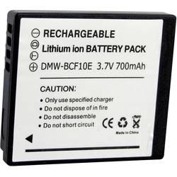Náhradní baterie pro kamery Conrad Energy DMW-BCF10e, 3,7 V, 700 mAh
