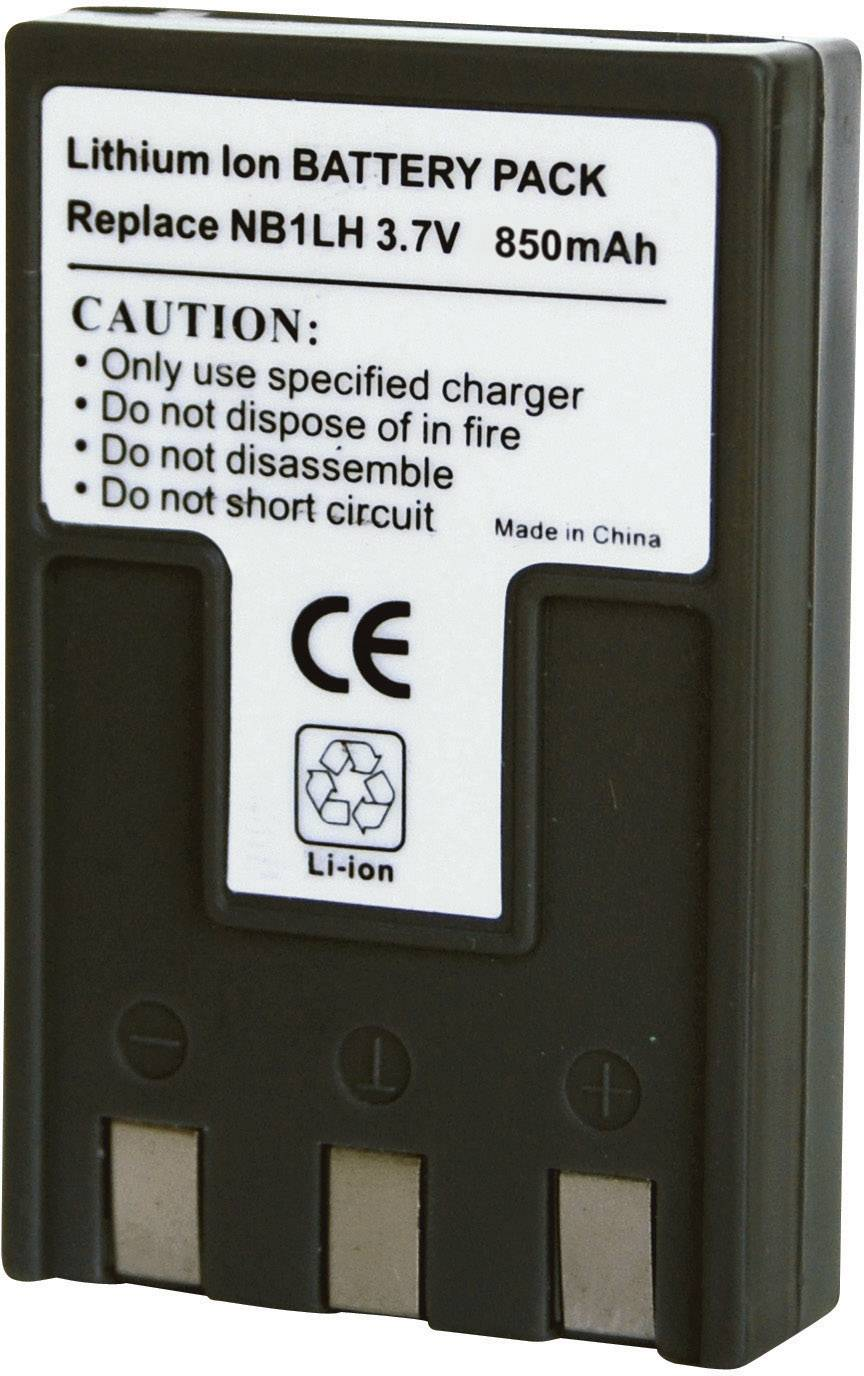Akumulátor do kamery Conrad energy 250549 250549, 850 mAh