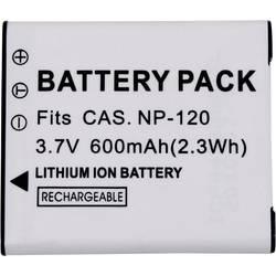 Náhradní baterie pro kamery Conrad Energy NP120, 3,7 V, 500 mAh