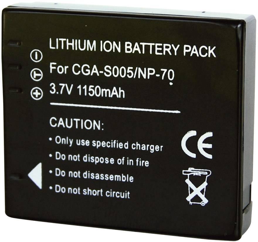 Akumulátor do kamery Conrad energy 250782 250782, 900 mAh