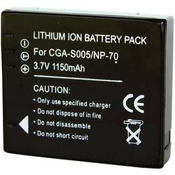 Li-Ion akumulátor pro kamery, CGA-S005, 3,7 V, 900 mAh, černá